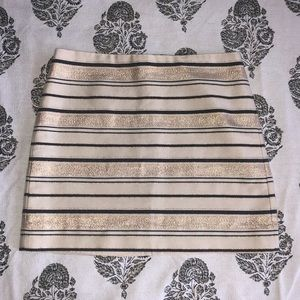 Like NEW J. Crew Gold Striped Skirt ✨☺️